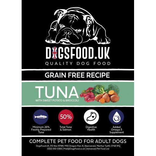 Grain Free Dog Food Tuna with Sweet Potato & Broccoli Recipe