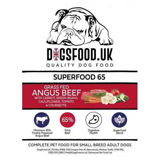 Superfood 65 Angus Beef Adult Dog - Small Breed