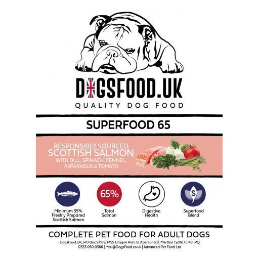 Superfood 65 Scottish Salmon Adult Dog Food