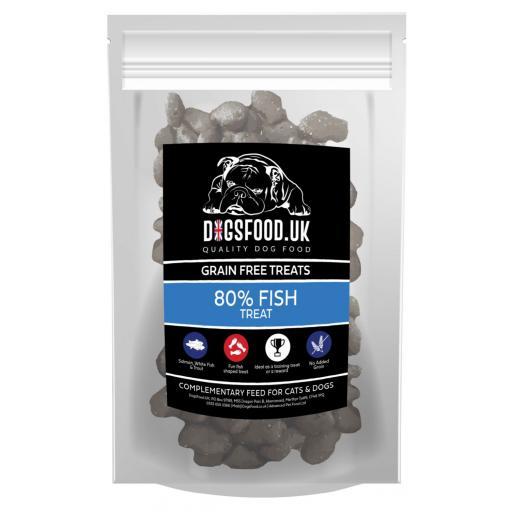 Grain Free 80% Fish Dog Treats 500g Bag