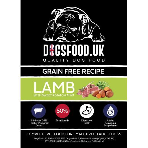 Grain Free Small Breed Adult Lamb Sweet Potato & Mint Recipe