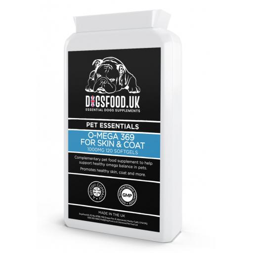 O-mega 369 for Dogs Skin & Coat 120 Soft Gel Capsule