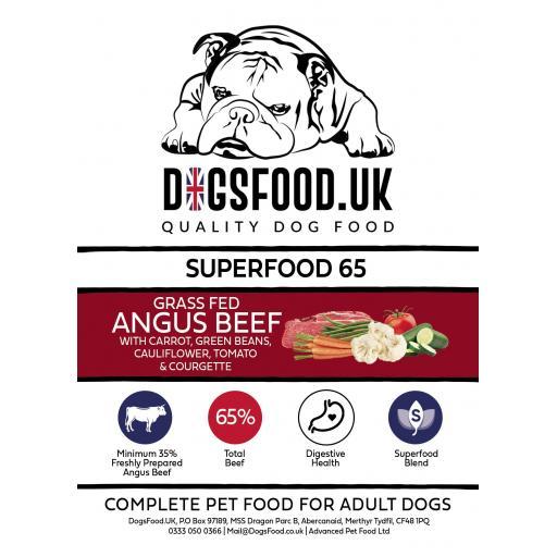 Superfood 65 Angus Beef Adult Dog Food