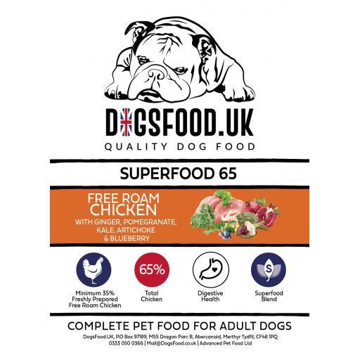 Superfood 65 Free Range Chicken Adult Dog Food